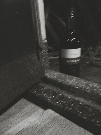 Hey There! Check This Out Bottle Of Wine @my Frontdoor Black & White Monochrome Enjoying Life