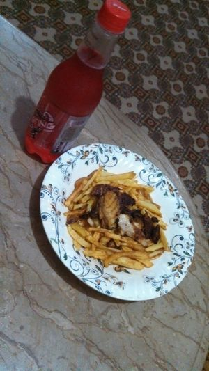 Yummmmmm fish n chips ;) prft diner..<3 made by me. ;) :)