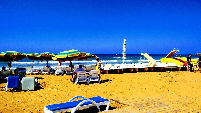 Beach Sea Vacations Sand Water Summer Travel Destinations Blue Umbrella Beach Waves Sand