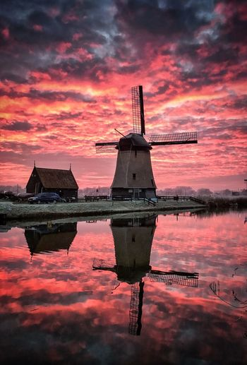 --Mill Reflection-- Reflection Water Waterfront Sunset Sky Nature Mill Sunset_collection EyeEm Selects