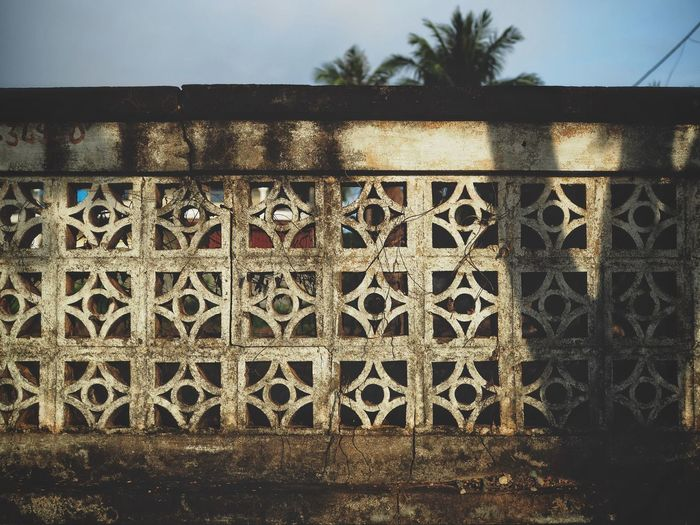 Fence in Kep Cambodia Architecture Pattern Building Exterior Built Structure Architecture Travel Khmer Fence Pattern
