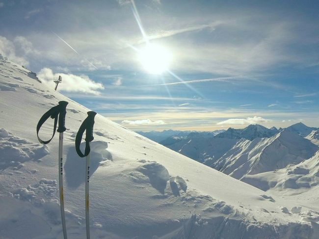 Snow Winter Cold Temperature Ski Holiday Outdoors Sky No People Vacation Winter Season Foreground Background Sun Enjoying Life Serfaus Tirol