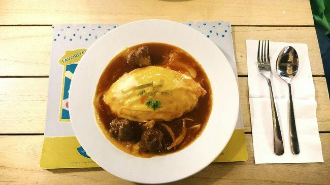 Omurice Japanese Food Sunny Side Up Egg Omelette Nasi Goreng