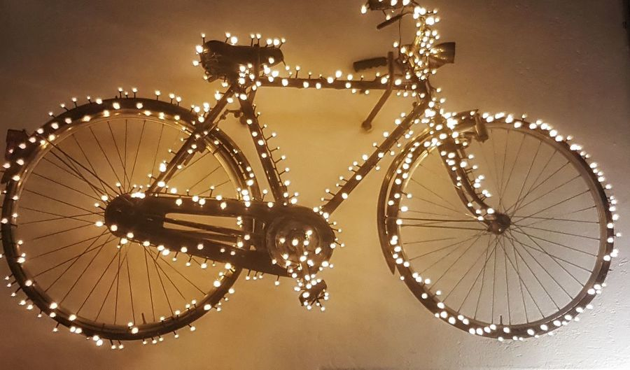 bycicle Bicycle City Illuminated Close-up