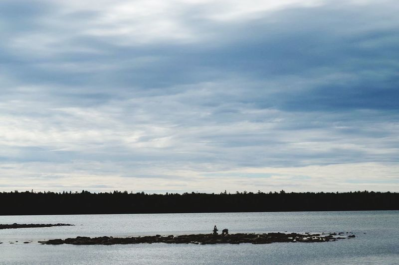 Water Lake Calm Still Life Tranquil Scene Beauty In Nature Cloud Idyllic Cloud - Sky Nature Vacations Tobermory Majestic Inuksuk Stone Silhouette Day Non-urban Scene Man Made Object Waterfront