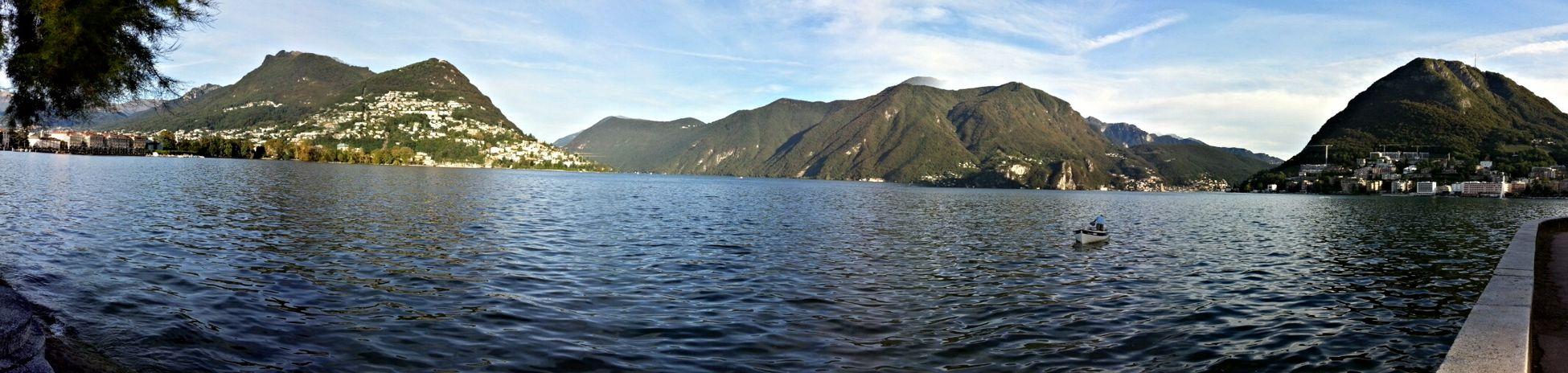 Luganolake Lago Di Lugano  Lifeboat Panoramic View