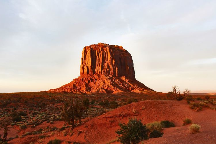 Sunset in arizona - monument valley
