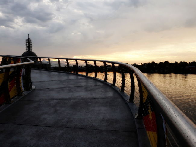 EyeEmNewHere Architecture Beauty In Nature Bridge Built Structure Cloud - Sky Nature No People Scenics - Nature Sky Sunset Water