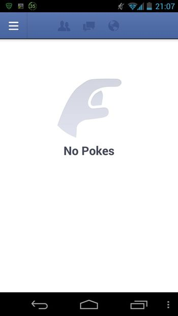 no pokes! Enjoying Life