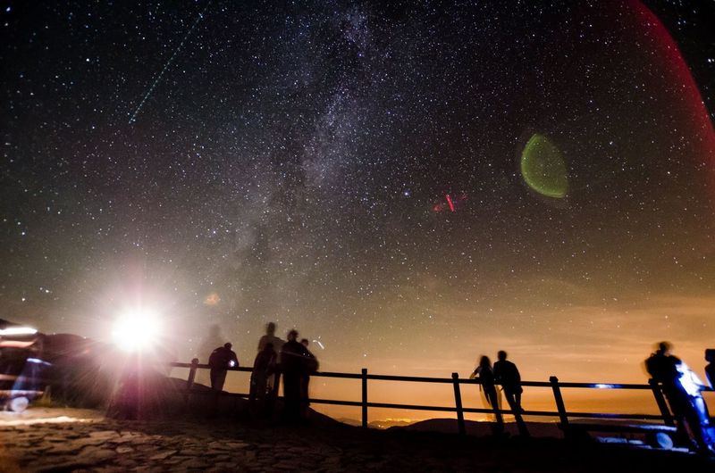 Night Nightphotography Poland