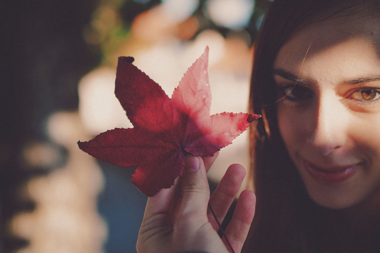 Spring Blossom Autumn Change Close-up Day Holding Human Body Part Human Hand Leaf Lifestyles Maple Maple Leaf Nature One Person Outdoors People Real People Women Young Adult EyeEmNewHere