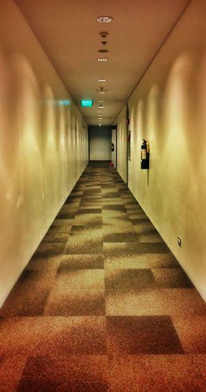 Work work work Symmetry Interior Design Empty Places Hallway