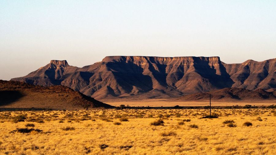 Scenic view of rock formation in namibia