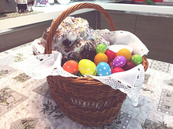 Easter Eggs Easter Egg Coloured Eggs Ortodox Church Orthodox Orthodox Easter Pasqua Ortodossa Pasti Oua Rosii Celebrating Easter Sweet Food Traditional Festival Basket