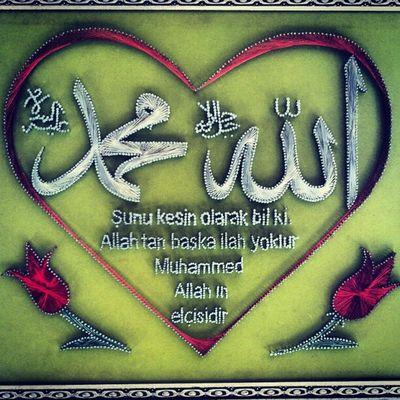 DIN Islam Sanat çivi filografi