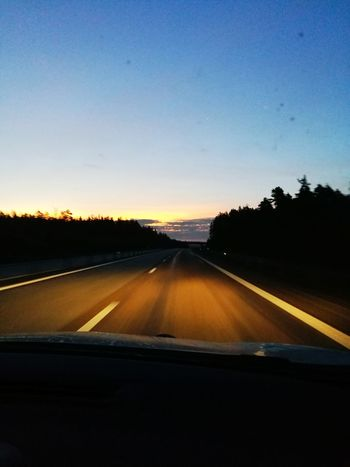 Early Morning Highway On The Road One Man Only Onmywaytowork