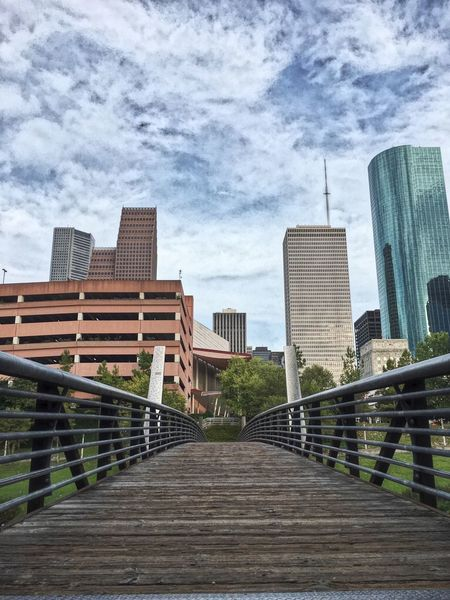 Buffalo Bayou Park Houston Texas Perspective Downtown Skyline Bridge City Parks Colors Of The Sky Nature Meets Urban Colour Of Life Unexpected Beauty Low Angle View The City Light Stories From The City Adventures In The City The Architect - 2018 EyeEm Awards