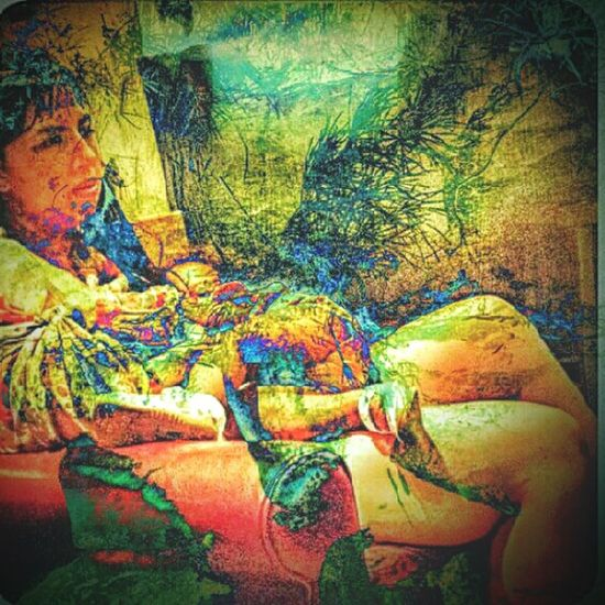 Ancient Magical Sprite Mother & Child Multi Colored Painterly IPhoneography Kalakaua Ave