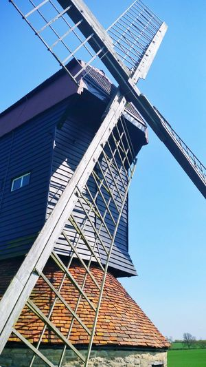Village Rural History Historical Heritage Stevington Bedfordshire Stevington Windmill Clear Sky Sky Architecture Building Exterior Built Structure Traditional Windmill Windmill