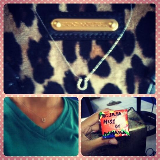FINALLY!!, I'VE GOT THE NECKLACE THAT I ALWAYS WANTED. THANK YOU MAMA ;) Horseshoe Goodluckcharm Gift Frommama Loveit Surprise Happygirl