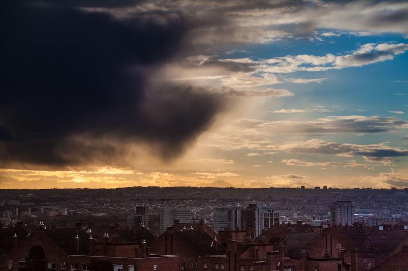 Architecture Check This Out City Cityscape Cloud - Sky Cloud Formations Dramatic Sky EyeEm Gallery Is Coming No People Outdoors Parque De Las Siete Tetas SieteTetas Sky Storm Sunset Thunderstorm Urban Skyline