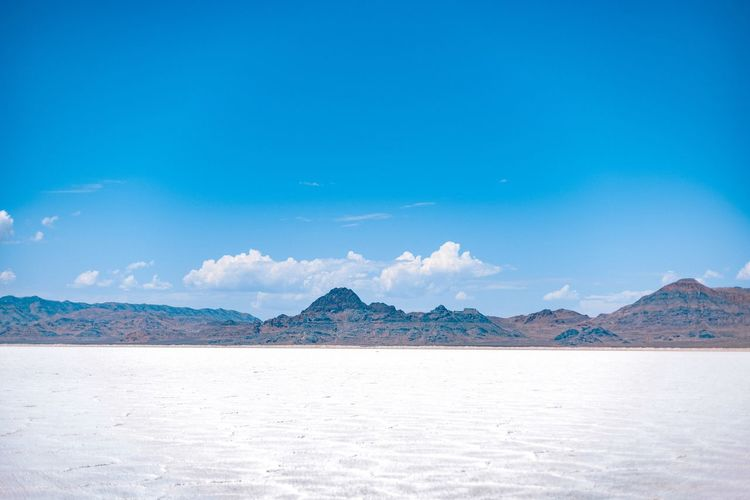 Mountain Blue Scenics - Nature Sky Landscape Beauty In Nature Environment Nature Land Tranquility Travel Destinations No People Water Travel Tranquil Scene Mountain Range Salt Flat Sea Snow Snowcapped Mountain