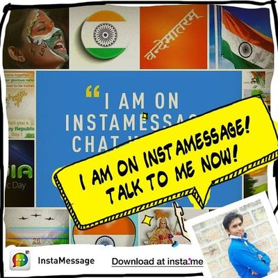 Hizaa! There is a REAL messaging app for Instagram users! Go to @instamessage_app download and chat with me now! Instamessage Happyrepublicday Republicday JaiHind VandeMataram IndianRepublicDay