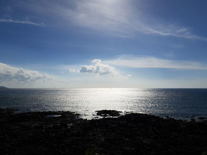 white clouds EyeEm Gallery Backlight Shadow JEJU ISLAND  Sea Beach Sky Horizon Over Water Cloud - Sky