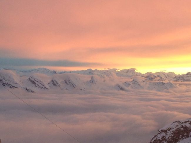 Glad to see this every day ? Mountains Nature Switzerland Sunset