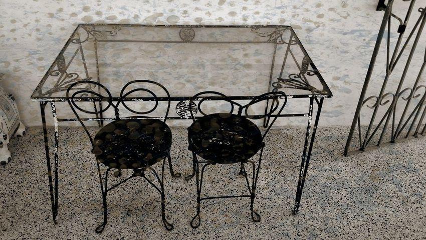 Patio Furniture Iron Work Grunge Black And White Mobile Photography St. Croix USVI
