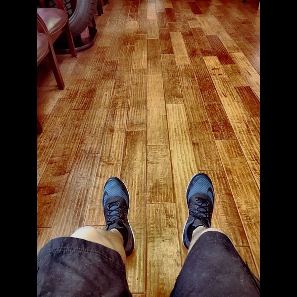 Shoes Legs Wood Floors Waiting