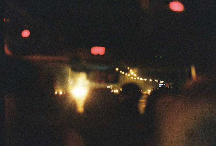 Night drive. Drive Night Lights Night Highway