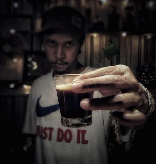 Indoors  One Person Day People Coffeelover EyeEmNewHere Phonegrapher Real People Lenovophography PhonePhotography Phonegraphy_indonesia Lenovok4notephotography Phonetography