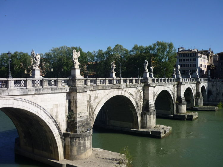 Bernini Gianlorenzo Bernini Outdoors River Tiber Rome, Italy Sant Angelo St Angelo Bridge Statue