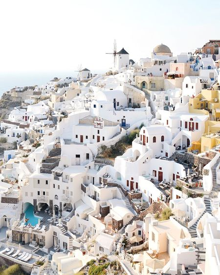 Dreamy view Vacations The Week on EyeEm Eye4photography  The Architect - 2018 EyeEm Awards EyeEm Selects EyeEm Best Shots Travel Travel Destinations Greece Santorini, Greece Santorini Island The Great Outdoors - 2018 EyeEm Awards Building Exterior Built Structure Architecture Sky Day The Traveler - 2018 EyeEm Awards High Angle View Cityscape Sunlight Clear Sky