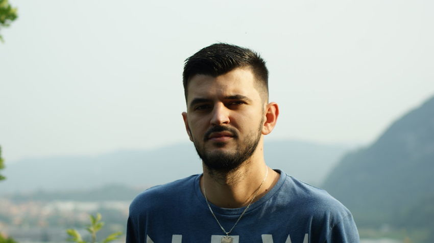 EyeEm Best Shots EyeEm Selects EyeEmNewHere Beard Beautiful People Casual Clothing Contemplation Day Focus On Foreground Front View Headshot Leisure Activity Lifestyles Looking At Camera Mountain Nature One Person Outdoors Portrait Real People Young Adult Young Men