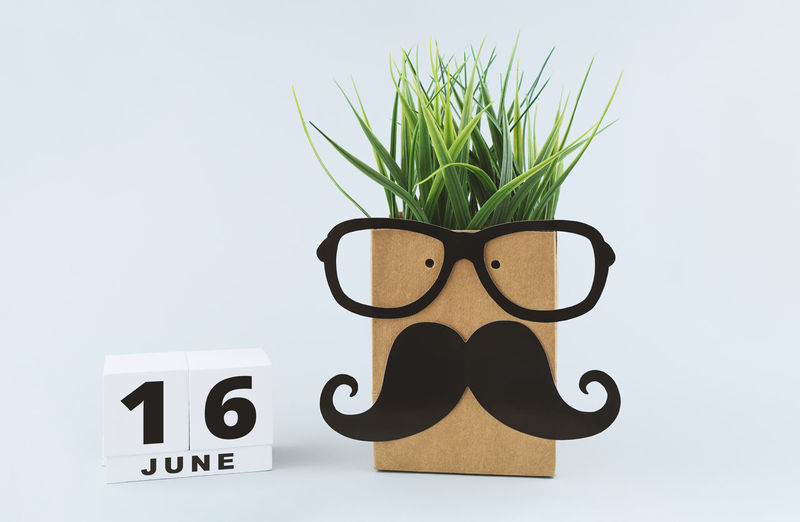 Large white mug with black mustache, red heart and save date wooden calendar template to celebrate Fathers day. Greeting card to Fathers father day concept Fathers Day Greeting Card  16st June Calendar Mustache Template Celebrate Celebration Concept Congratulation Craft Creative Dad Day Decoration Education Event Eyeglasses  Face Father Funny Gift Happy Hipster Holiday Isolated June Lifestyle Man Masculine Minimalism Object Papá Paper Parent Party Present Smart Save Date Calendar Symbol Invitation Banner Male Family Decorative Studio Shot Potted Plant Number Glasses No People