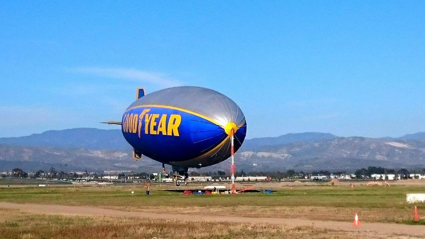 Blimp Ride Blimp Check This Out Nice Day Southern California Orange County Nice View Sunny Day Aircraft
