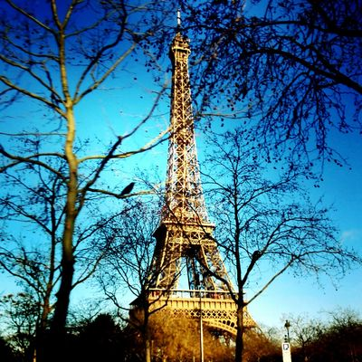From Paris with love Paris Tour Eiffel Eiffel Tower Beautifulplace Beautiful Day Sunny Day Beautifulparis Paris, France  Parispics Beautiful City