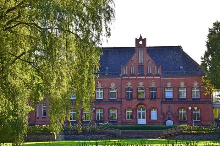 Manor House Gardens Radensleben Architecture Building Exterior Built Structure Clear Sky Day Grass Manor House Nature No People Outdoors Park Sky Tree
