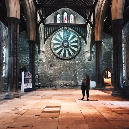 King Arthur Round Table Architecture One Person Full Length Real People Built Structure Rear View Day