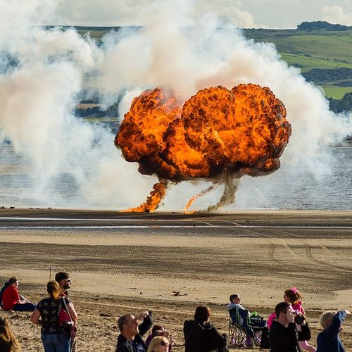 The Big Bang.. Scottish International Airshow manoevre Sand Water Outdoors Explosive