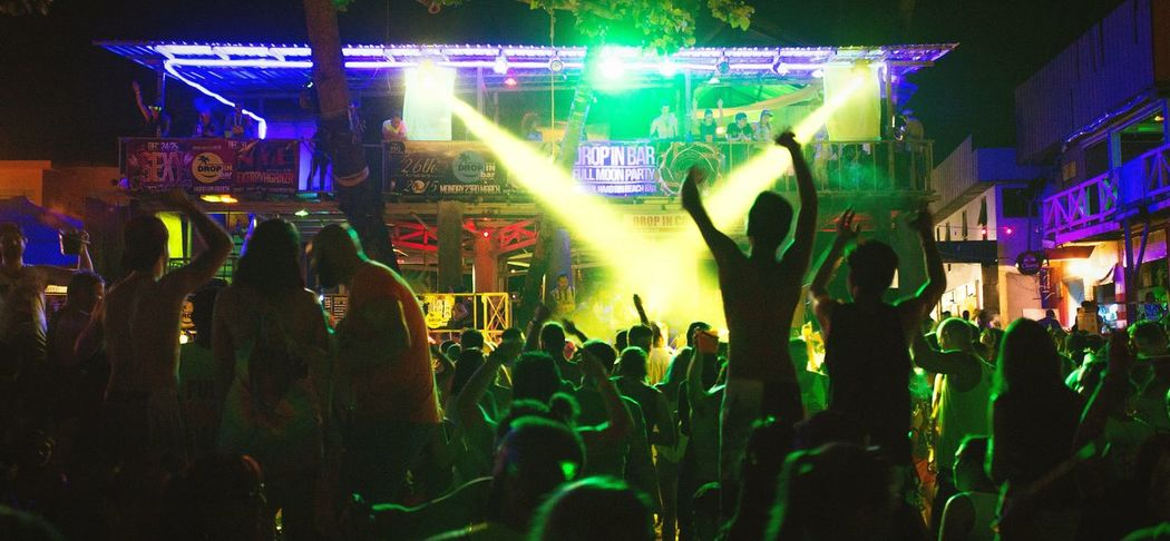 Let's Dance Full Moon Party Full Moon Party In Koh Phangan Koh Phangan Dance Dj Beat Music Crowd Nightlife Night Fun Enjoyment Arts Culture And Entertainment