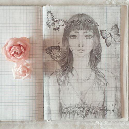 Drawing Draw Getting Inspired Zeichnung  Woman Art
