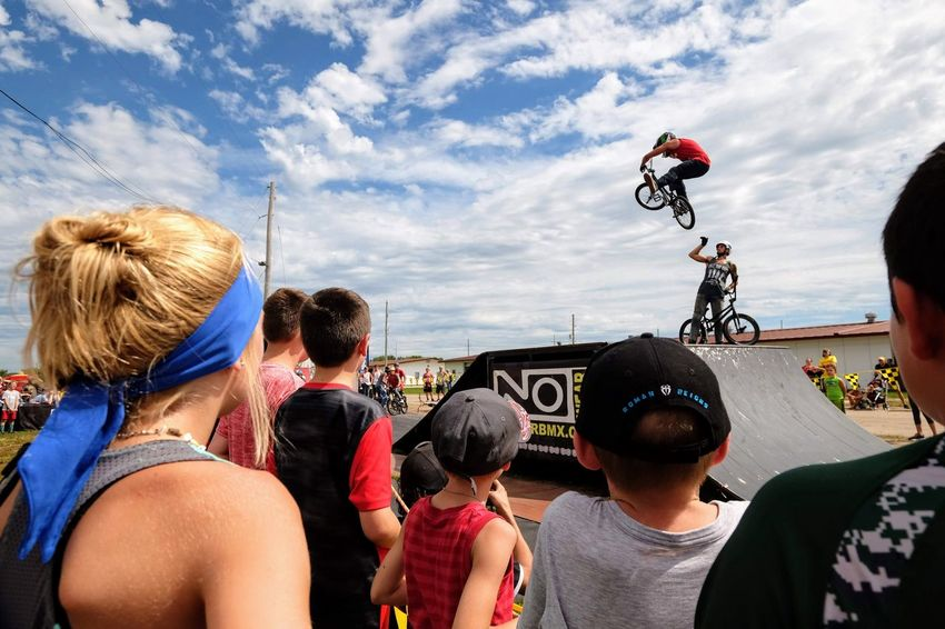 Nowear BMX Team Nebraska State Fair September 1, 2018 Grand Island, Nebraska Camera Work Check This Out EyeEm Best Shots FUJIFILM X-T1 Fujinon 10-24mm F4 Getty Images Grand Island, Nebraska Nebraska State Fair NowearBMX Photojournalism Action Action Shot  Adult Bicycle Bmx  Bmx Cycling Cloud - Sky Crowd Day Events Extreme Sports Eye For Photography Freestyle Group Group Of People Headshot Jumping Leisure Activity Lifestyles Medium Group Of People Men Mid-air Nature Outdoors People Real People Rear View S.ramos September 2018 Series Sky Standing Transportation Women