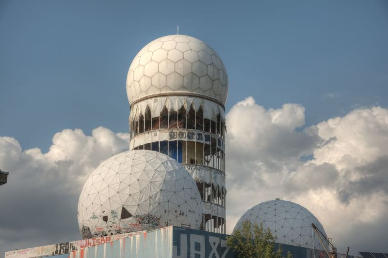 former NSA monitoring station Architecture Blue Built Structure Cloud Cloud - Sky Low Angle View No People Outdoors Sky Teufelsberg Berlin Travel Destinations