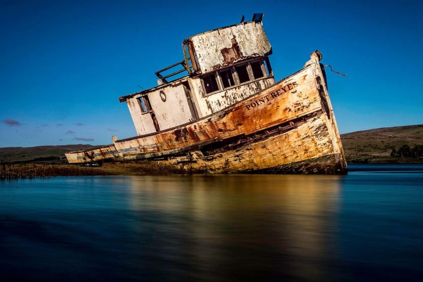 Abandoned Nautical Vessel No People Water Travel Damaged Sky Beach Day Outdoors Nature California Love Travel Destinations Sea Transportation Tranquil Scene