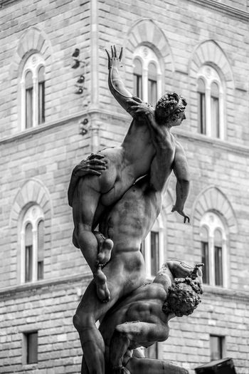 Architecture Black & White Black And White Blackandwhite Building Exterior Business Finance And Industry Charming City Street Cityscape Cultures Façade Florence Florence Italy Monochrome No People Outdoors Sculpture Statue Street Town Square Travel Destinations