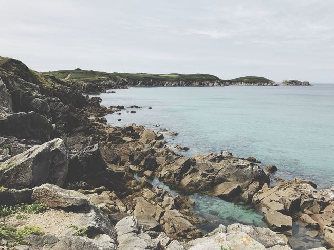 Le Conquet Finistere Brittany Ocean Rock - Object Rock Formation Sea Nature Water Scenics Beauty In Nature Outdoors Sky Day Tranquility Tranquil Scene No People Cliff Landscape Beach Horizon Over Water