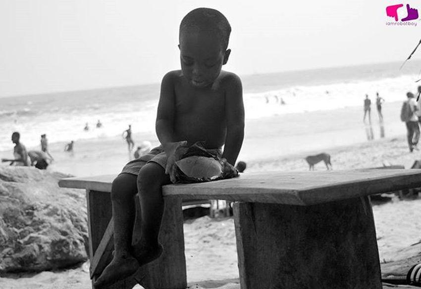 Never take Life Serious. Forever young. Photocred: Enoch RobotBoy Appiah Jr (©2016) Kokrobite Photowalkgh AndroidPhotography Mobilephotography Monochrome Ghana Ghana360 Kids Beach Beachlife